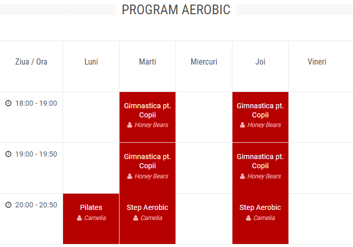program aerobic